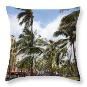 Bayside - Miami Throw Pillow