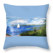 Bayville Marsh Throw Pillow