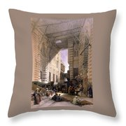 Bazaar Of The Silk Mercers Throw Pillow
