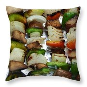 Bbq Grilled Vegetables Throw Pillow