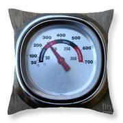 Bbq Thermometer Throw Pillow