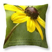 Be Better Than Yourself Throw Pillow