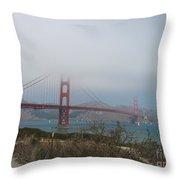 Be In A Mist - Golden Gate Bridge Throw Pillow