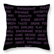 BE Throw Pillow