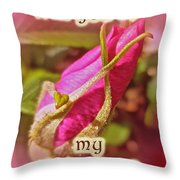Be My Valentine Greeting Card - Rosebud Throw Pillow