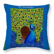 Be Yourself Throw Pillow by The Art With A Heart By Charlotte Phillips
