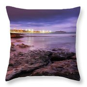 Beach At Dusk Throw Pillow by Carlos Caetano