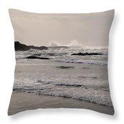 Beach At Tofino  Throw Pillow