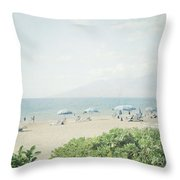 Beach At Wailea  Throw Pillow