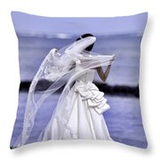 Beach Attire Today In Hawaii Throw Pillow