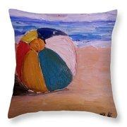 Beach Ball Throw Pillow