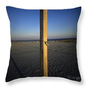 Beach Throw Pillow by Bernard Jaubert