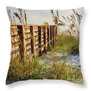 Beach Boardwalk Throw Pillow