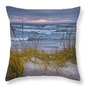 Beach By Holland Michigan No 0192 Throw Pillow
