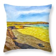 Beach Cliffs South Of San Onofre Throw Pillow