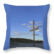 Beach Cross Throw Pillow