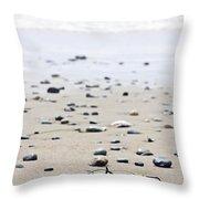 Beach Detail On Pacific Ocean Coast Of Canada Throw Pillow