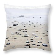 Beach Detail On Pacific Ocean Coast Of Canada Throw Pillow
