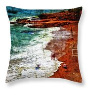 Beach Fantasy Throw Pillow by Madeline Ellis