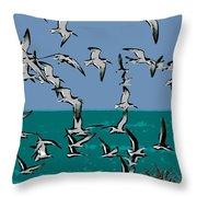Beach Flight Throw Pillow