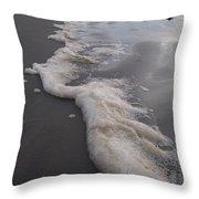 Beach Foam Art Throw Pillow