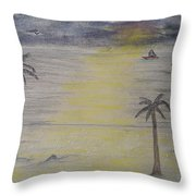 Beach Front Property Throw Pillow