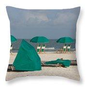 Beach Furniture II Throw Pillow