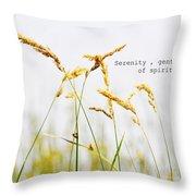 Beach Grass .serenity. Throw Pillow