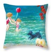 Beach II Throw Pillow