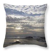 Beach Of Glass Throw Pillow