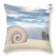 Beach Of Shells Throw Pillow