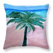 Beach Palm Throw Pillow