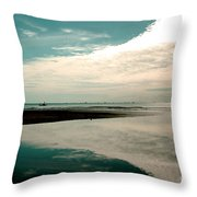 Beach Reflection Throw Pillow