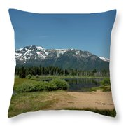 Beach Reflections At Mt Tallac Throw Pillow