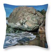 Beach Rock Throw Pillow