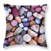 Beach Rocks 2 Throw Pillow