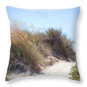 Beach Sand Dunes I Throw Pillow