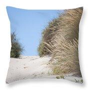 Beach Sand Dunes II Throw Pillow