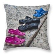 Beach Shoes Throw Pillow