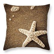 Beach Star Throw Pillow
