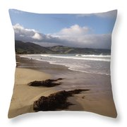 Beach Surf Throw Pillow