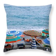Beach Umbrellas 2 Throw Pillow