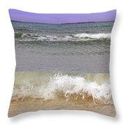 Beach Waves Throw Pillow
