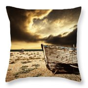Beached In Color Throw Pillow