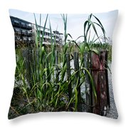 Beachside Blues Throw Pillow