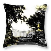 Beacon Rock Gate Newport Ri Throw Pillow