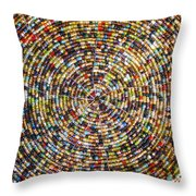 Beaded Indian Work Throw Pillow