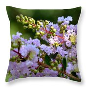 Beaded Lavender Lace Throw Pillow