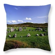 Beaghmore Stone Circles, Co. Tyrone Throw Pillow by The Irish Image Collection