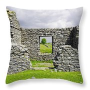 Beam Engine House Remains At Magpie Mine - Sheldon Throw Pillow